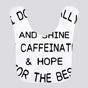 i don't really rise and shi Polyester Baby Bib
