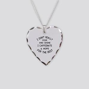 i don't really rise and s Necklace Heart Charm