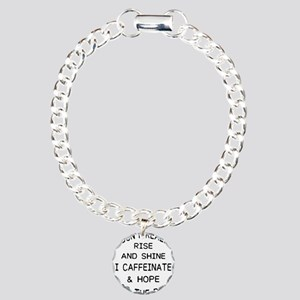 i don't really rise Charm Bracelet, One Charm