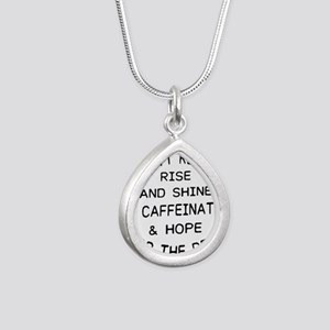 i don't really rise and shine i caff Necklaces