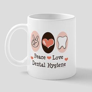 Peace Love Dental Hygiene Mug