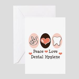 Peace Love Dental Hygiene Greeting Card