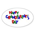 Grandparents Day Oval Sticker