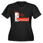 Essential Arts Women's Plus Size V-Neck Dark T