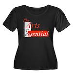 Essential Arts Women's Plus Size Scoop Neck Dark T