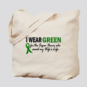 I Wear Green 2 (Wife's Life) Tote Bag
