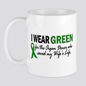 I Wear Green 2 (Wife's Life) Mug