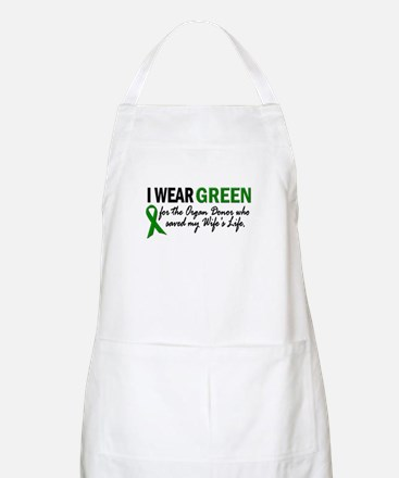 I Wear Green 2 (Wife's Life) BBQ Apron
