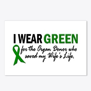 I Wear Green 2 (Wife's Life) Postcards (Package of