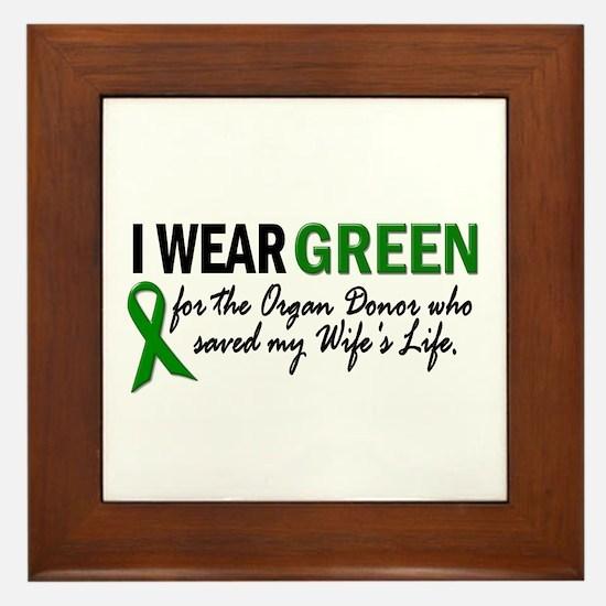 I Wear Green 2 (Wife's Life) Framed Tile