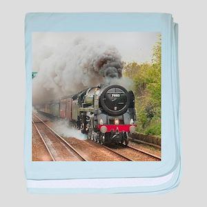 locomotive train engine 2 baby blanket