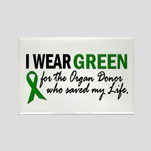 I Wear Green 2 (Saved My Life) Rectangle Magnet