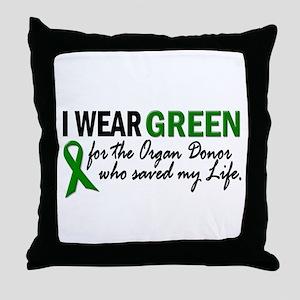 I Wear Green 2 (Saved My Life) Throw Pillow