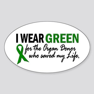 I Wear Green 2 (Saved My Life) Oval Sticker
