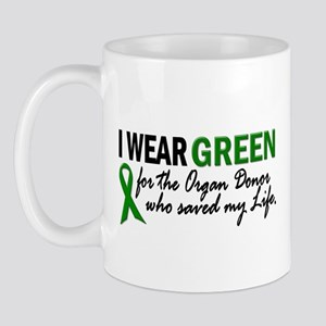 I Wear Green 2 (Saved My Life) Mug