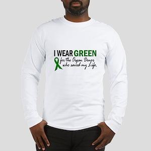 I Wear Green 2 (Saved My Life) Long Sleeve T-Shirt