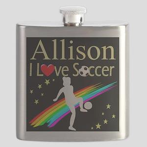 SOCCER GIRL Flask
