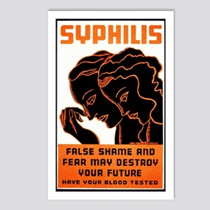 Vintage Syphilis Poster Postcards (Package of 8)