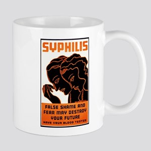 Vintage Syphilis Poster Mug
