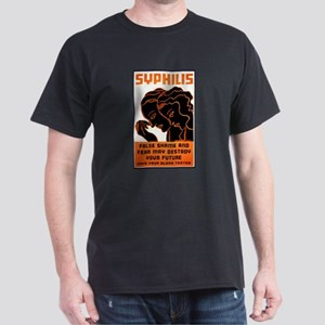 Vintage Syphilis Poster Dark T-Shirt