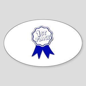 1st place Oval Sticker