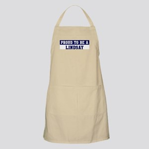 Proud to be Lindsay BBQ Apron