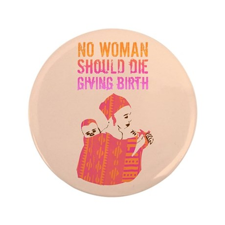 """African Mother 3.5"""" Button (100 pack)"""