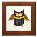 Awesome Owl Framed Tile