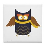 Awesome Owl Tile Coaster