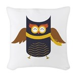 Awesome Owl Woven Throw Pillow