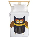 Awesome Owl Twin Duvet Cover