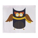 Awesome Owl Throw Blanket