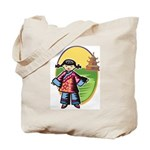 Chinese Girl Tote Bag
