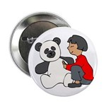 Girl with Panda Button