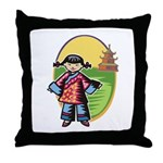Chinese Girl Throw Pillow