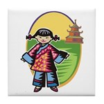 Chinese Girl Tile Coaster