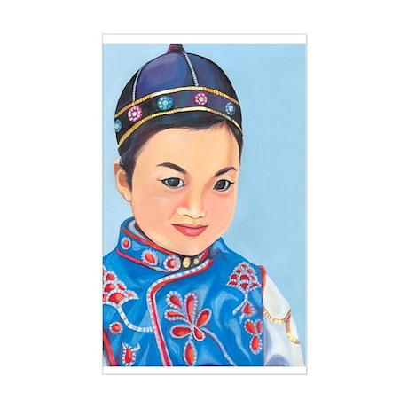 Asian Rectangle Sticker