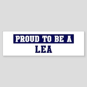 Proud to be Lea Bumper Sticker