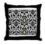 Damsel Cat by Traci K Throw Pillow