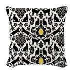 Damsel Cat by Traci K Woven Throw Pillow