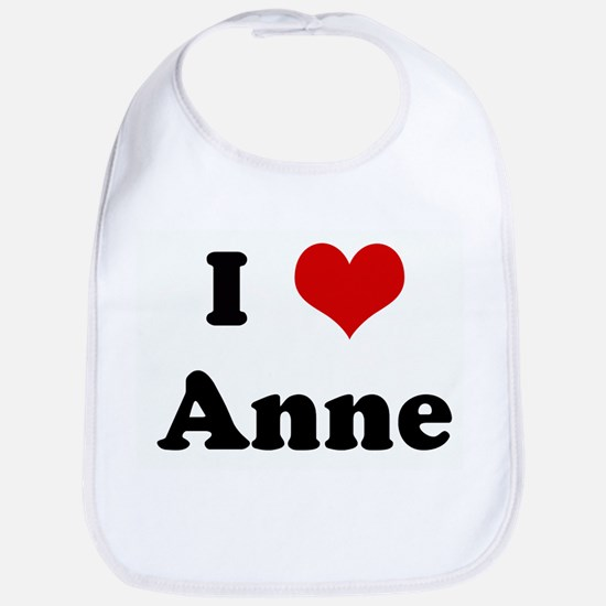 I Love Anne Bib