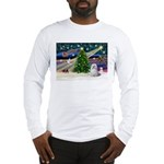 XmasMagic/Maltese (#9) Long Sleeve T-Shirt