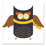 Awesome Owl Square Car Magnet 3