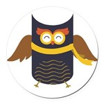Awesome Owl Round Car Magnet