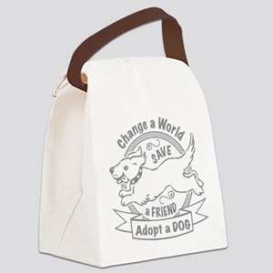 Adopt A Dog Design Canvas Lunch Bag