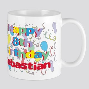 Sebastian's 8th Birthday Mug