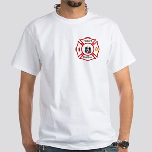 Future Firefighter Red White T-Shirt