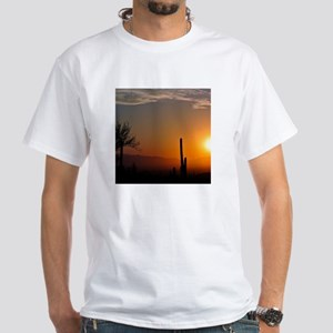 Desert Sunrise White T-Shirt