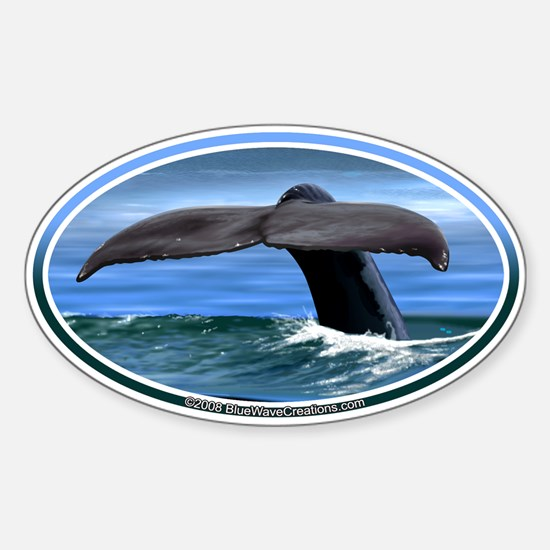 Whale Fluke / Tail car boat Seadoo Oval Decal