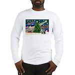 Xmas Magic & Keeshond Long Sleeve T-Shirt